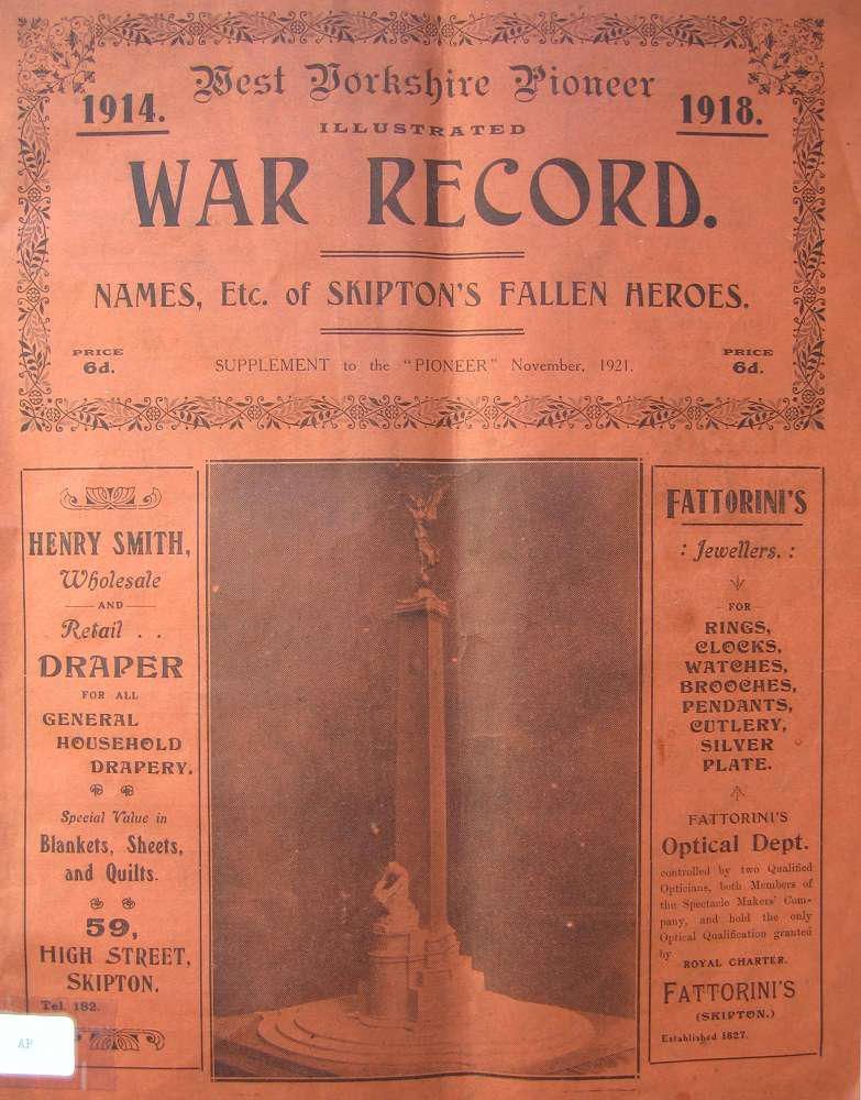 The West Yorkshire Pioneer Illustrated War Record: Page 1