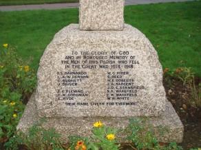 Downham War Memorial - detail