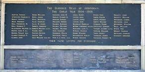 (1) War Memorial - detail