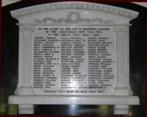 (2) St Peter's Church: Marble Memorial Plaque