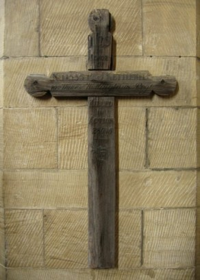 (2b) All Saint's Church: original wooden cross grave marker (James Kettlewell)