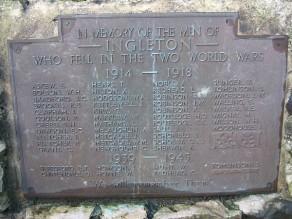 (1) War Memorial - detail, Roll of Honour