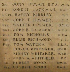 (1) War Memorial - detail no 2